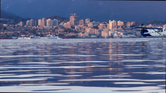 Sunset skyline  view North Vancouver  BC , Canada. video