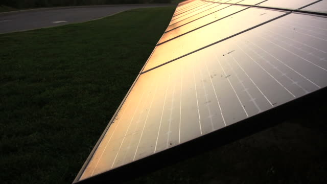 Sunset Solar Panels. Alternative Energy. video