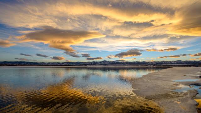 Sunset Spring Mountain Lake video