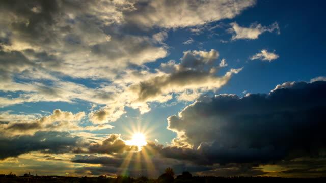 sunset sun, time-lapse video
