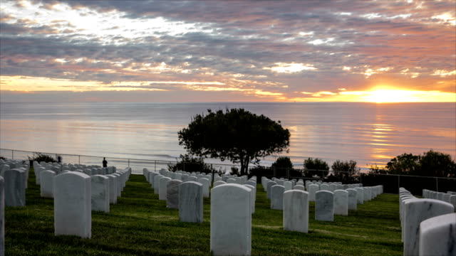 sunset time lapse at fort rosecrans national - memorial day stock videos and b-roll footage