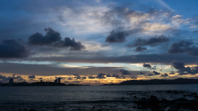 Sunset Time lapse at the beach in Kota Kinabalu video