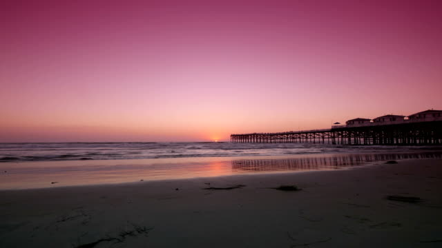 Sunset Time Lapse In California Beach In 4k Stock Video - Download ...