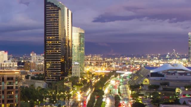 Laps de temps du coucher du soleil à San Diego - Vidéo
