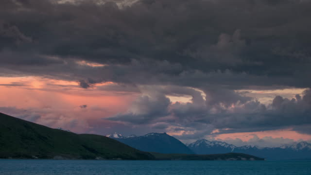 Sunset Time lapse of Lake tekapo , new zealand video
