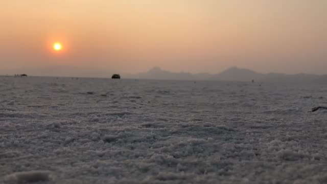 Sunset Time Lapse on the Salt Flats Time lapse on the salt flats in Utah. salt flat stock videos & royalty-free footage