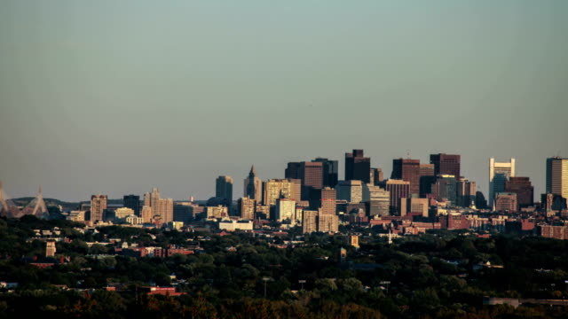 Sunset Timelapse of downtown Boston, Massachusetts. video
