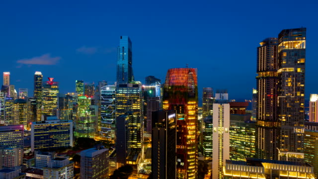 Sunset  timelapse Over Century City Skyline in Singapore video
