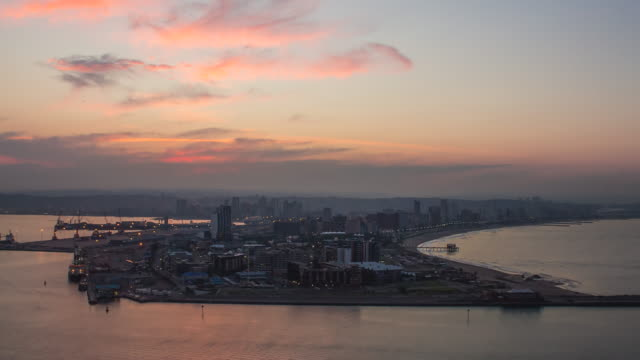 Sunset time-lapse over Durban. video