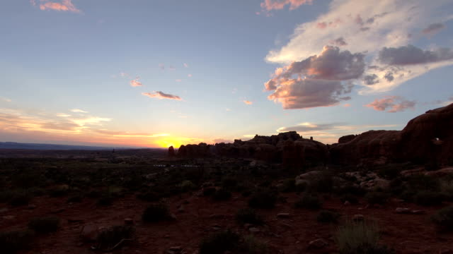 Sunset timelapse video