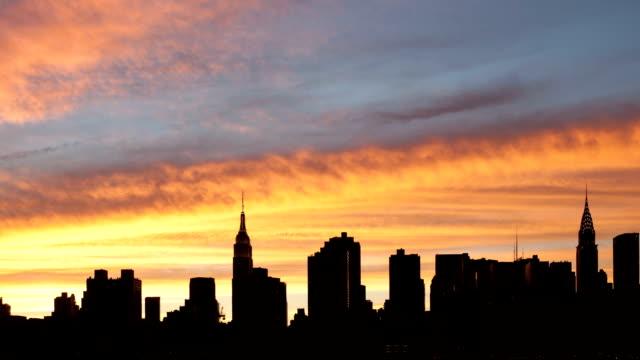 Sunset to Night Panorama New York City video