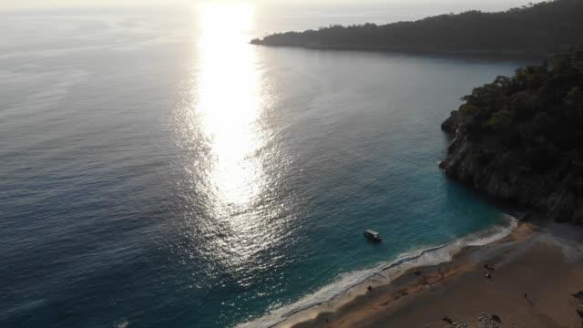 Sunset. Amazing sunset in mediterranean. aegean islands stock videos & royalty-free footage
