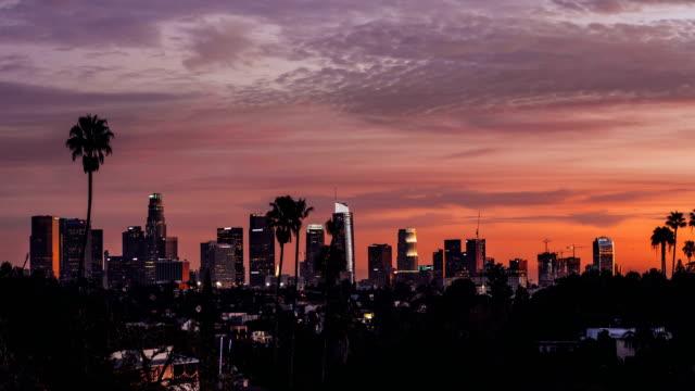 la sunset - los angeles stok videoları ve detay görüntü çekimi