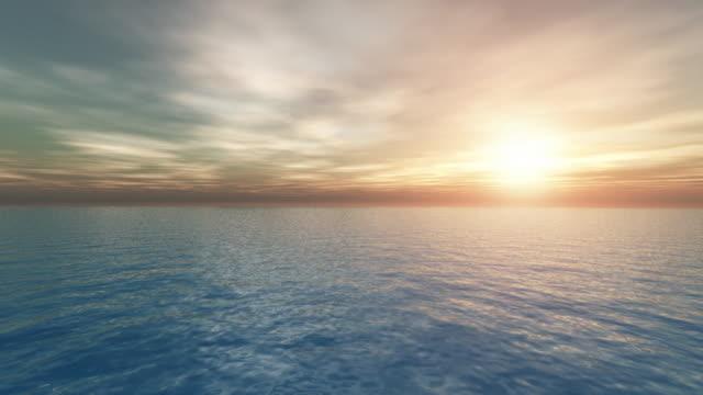 coucher de soleil - ambientazione tranquilla video stock e b–roll