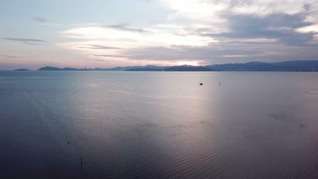 sunset view of penang island - юго восток стоковые видео и кадры b-roll