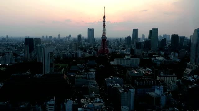stockvideo's en b-roll-footage met sunset view of tokyo's beautiful horizon. - tokio kanto