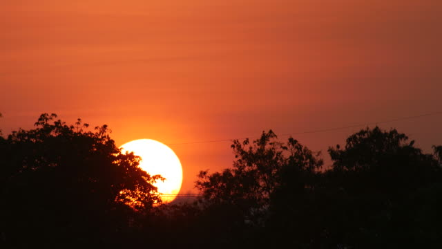 sunset with the reddish sky video