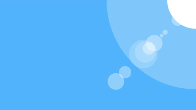 vidéos et rushes de animation d'icône sunshine avec fond bleu. graphisme. animation vidéo. animation de dessin animé d'isolement de soleil lumineux - contour