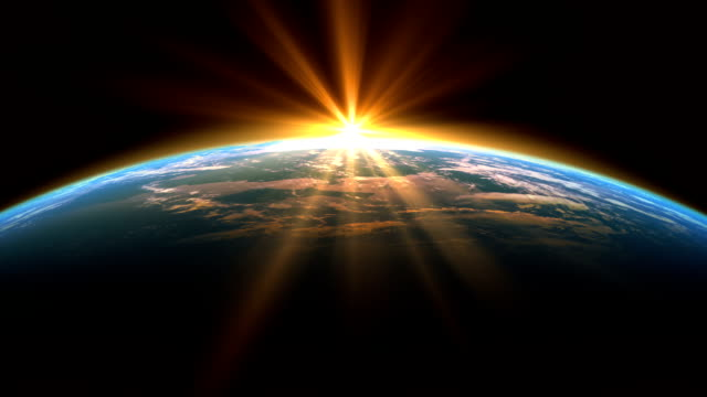 Sunshine Over The Earth. Looped.