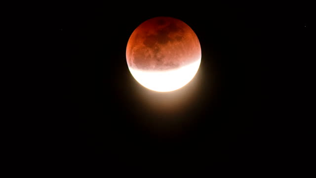 Super Blue Blood Moon. Lunar Eclipse on January 2018
