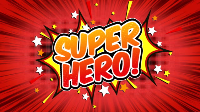 super hero - comic style text - super hero stock videos & royalty-free footage