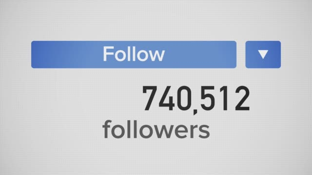 super popular influencer follow meter rises up to 1 billion - instagram filmów i materiałów b-roll