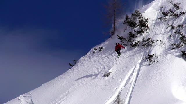 HD Super Slo-Mo: Free Ride Skier at Downhill video