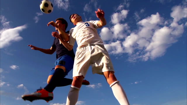 HD: Super Slo-Mo Shot of Soccer Header video