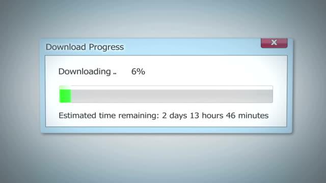 Super slow Internet, downloading dialog box shows little progress, outdated tech