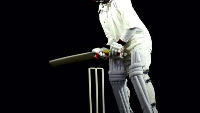 Super Slow motion - Bowled out in cricket match video