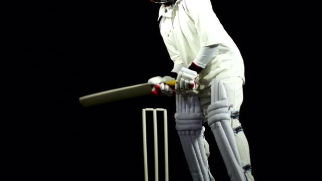 vídeos y material grabado en eventos de stock de super cámara lenta-bowled en partido de críquet - críquet