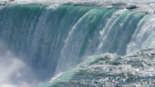 Super slow motion (180fps) close-up view of Niagara Falls, Canada