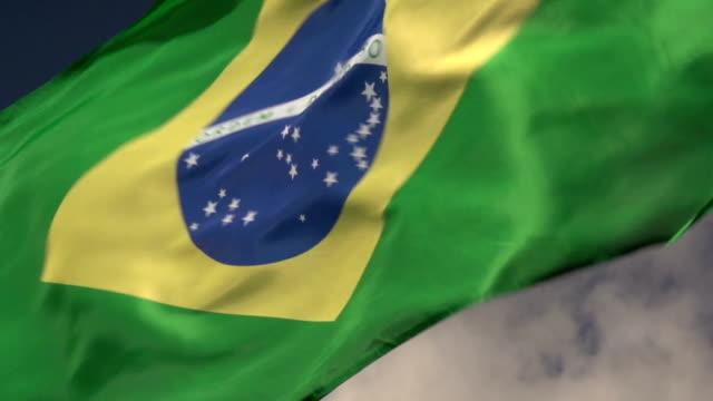 Super Slow Motion HD - Brazil flag close up video