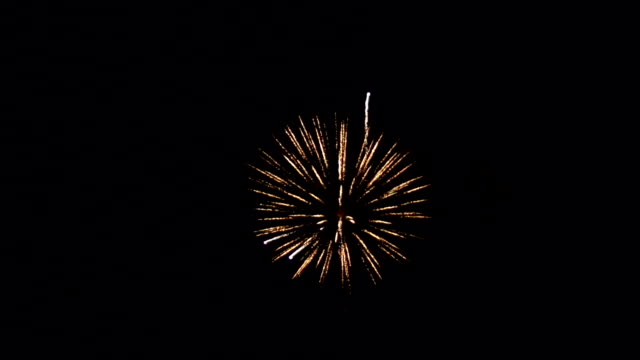 Super Slow Motion HD - Firework in the sky Stock HD video clip footage of a firework exploding in the sky - Filmed at 200fps in Super slow motion fireworks videos stock videos & royalty-free footage