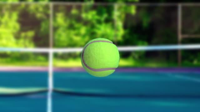 Super Zeitlupe video, Tennisball in Bewegung auf den Golfplatz – Video