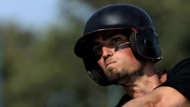 hd super slow-mo: baseball batter in action - baseball stok videoları ve detay görüntü çekimi