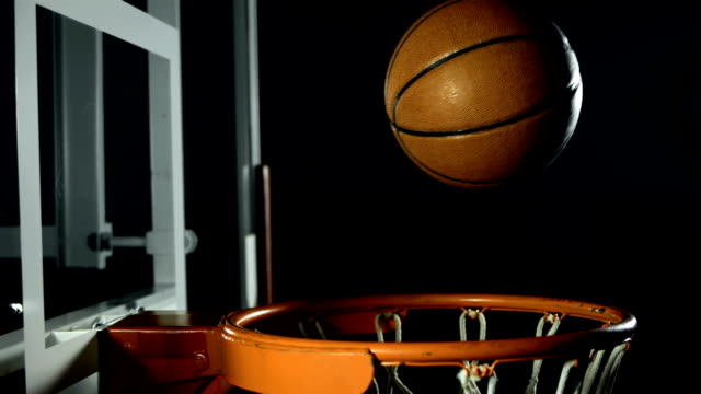 HD Super Slow-Mo: Basketball Falls Through A Hoop video