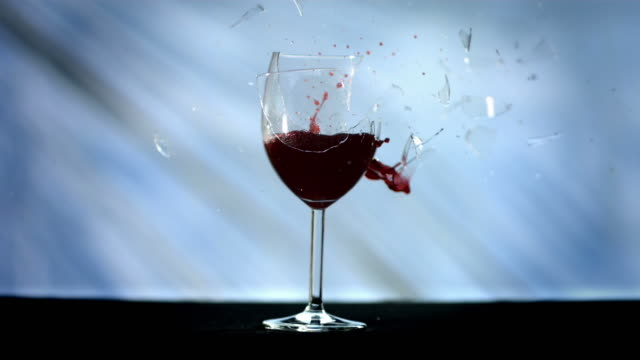 HD Super Slow-Mo: Bullet Breaking A Wine Glass video