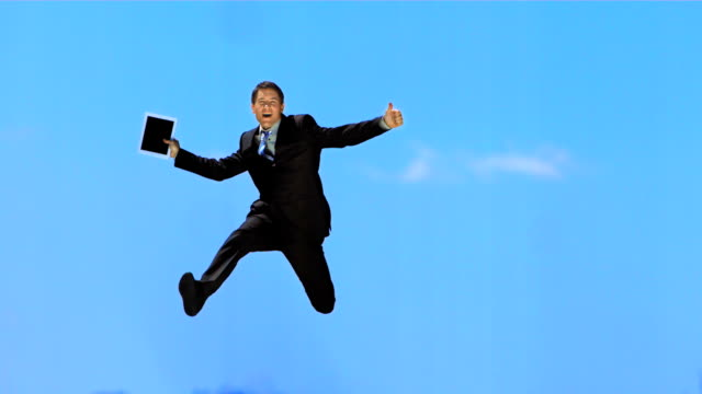 HD Super Slow-Mo: Cheerful Businessman Gesturing With Thumb Up video
