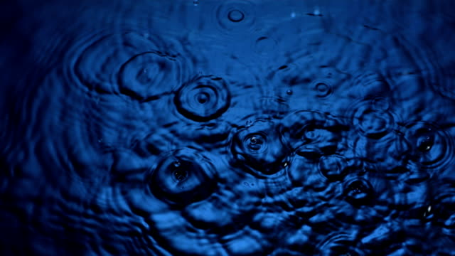 HD Super Slow-Mo: Drops Splashing On Water Surface HD1080p: Super Slow Motion shot of a drops of water falling into water and creating ripples. Recorded at 1050 fps. drop stock videos & royalty-free footage