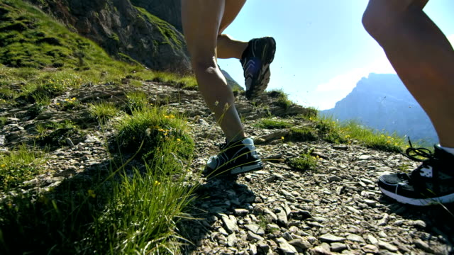 HD Super Slow-Mo: Extreme Athletes Running Uphill video
