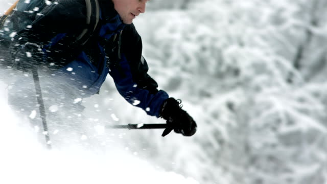 HD Super Slow-Mo: Extreme Backcountry Skier In Action video