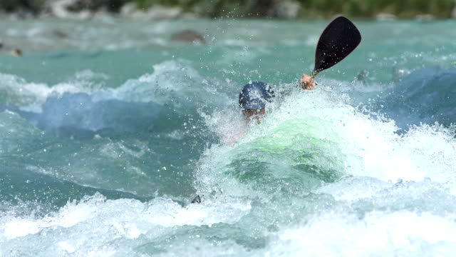 HD Super Slow-Mo: Extreme Whitewater Kayaker In Action video