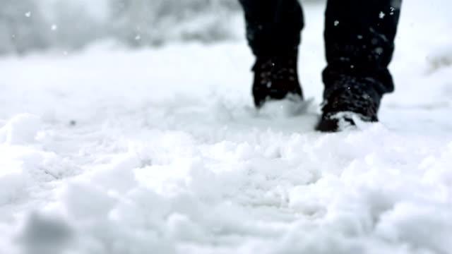 HD Super Slow-Mo: Kicking Snow video