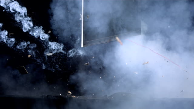 hd super slow-mo: laptop explosion - explosion stock videos & royalty-free footage