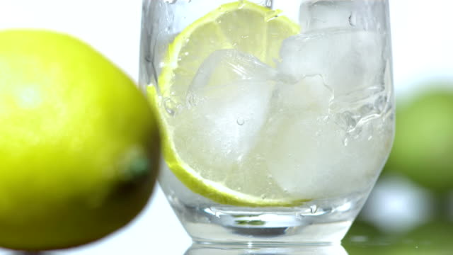 HD Super Slow-Mo: Lime Alcohol Beverage video