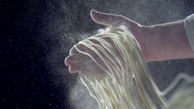 HD Super Slow-Mo: making noodles HD Super Slow-Mo: making noodles dough stock videos & royalty-free footage