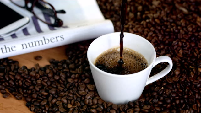 HD Super Slow-Mo: Morning With Black Coffee video