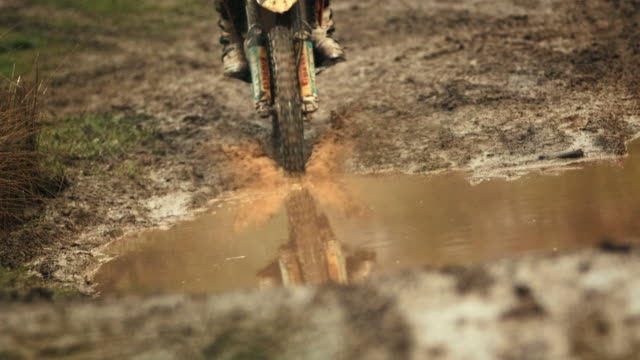 HD Super Slow-Mo: Motocross Racing In The Mud video
