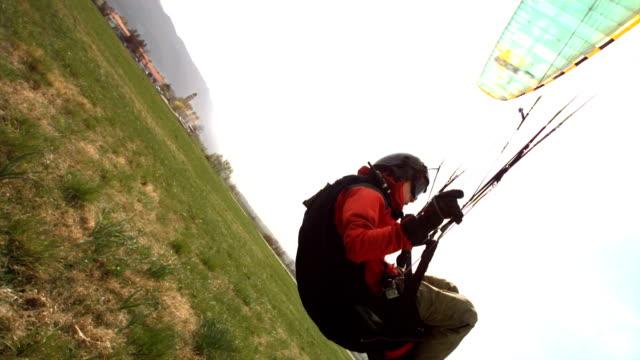 HD Super Slow-Mo: Parachutist Landing video